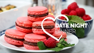 Date Night Dinner with COVERGIRL | Chocolate Raspberry Macarons, Beef Tenderloin & Stuffed Mushrooms by The Domestic Geek