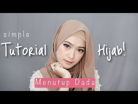 Simple Hijab Tutorial Menutup Dada | Saritiw
