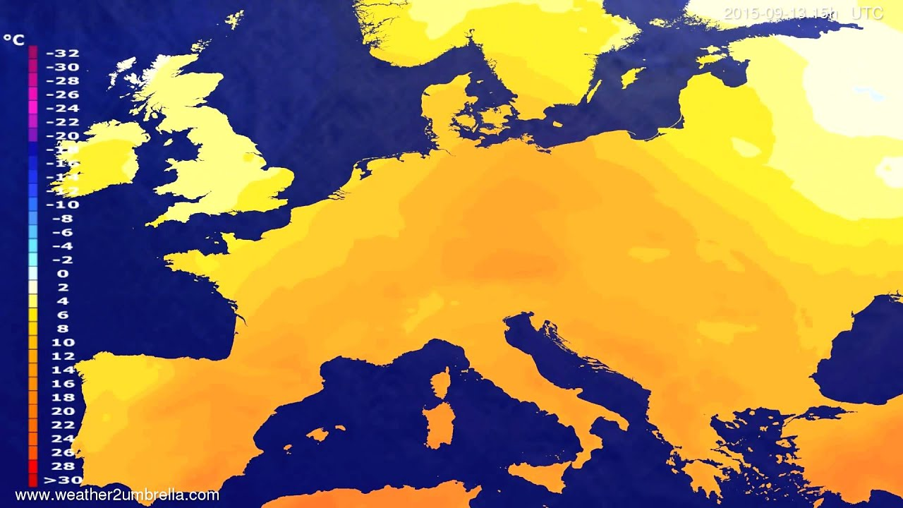 Temperature forecast Europe 2015-09-11