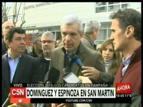 C5N – ELECCION 2015: DOMINGUEZ Y ESPINOZA EN SAN MARTIN