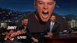Video Matt Damon Ruins Chris Hemsworth Interview MP3, 3GP, MP4, WEBM, AVI, FLV Desember 2017
