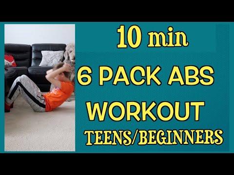 6 Pack ABS workout for kids and teens /10 min.kids exercises at home🔥 Sport pour enfants à la maison