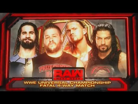 WWE RAW- SETH ROLLINS VS KEVIN OWENS VS BIG CASS VS ROMAN REIGNS (WWE 2K16 SIMULATION)