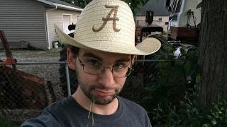 Laser engraved straw hat