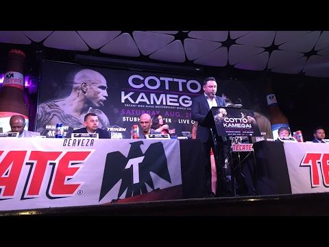 Cotto press conference
