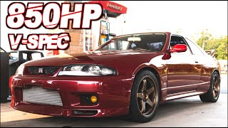 850HP R33 GTR V-Spec RB28 Tire Slayer Street Runs + Anti-Lag Launch! (The Perfect USA Legal R33) by  That Racing Channel