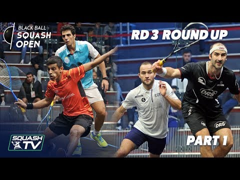 Squash: CIB Black Ball Squash Open 2018 - Rd 3 Roundup P1