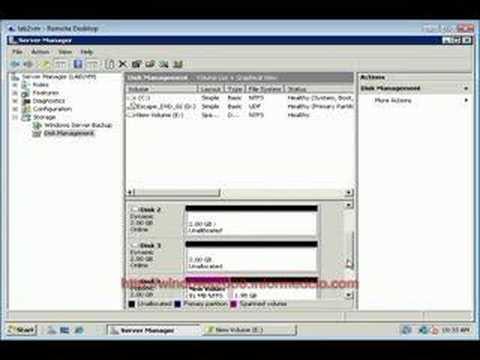 Windows 2008 Server: Disk Management