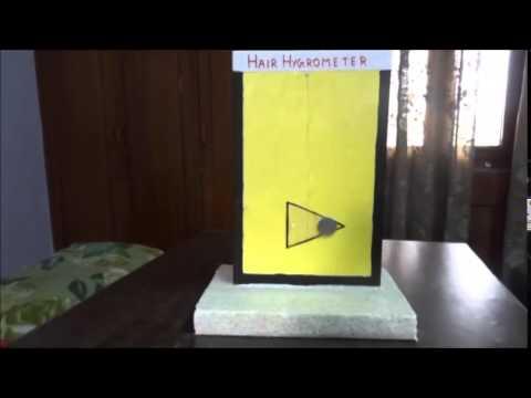 Making of hair hygrometer