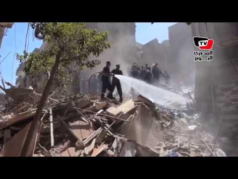 انهيار عقار مكون من «٥ طوابق» على سكانه بـ«المنصورة»