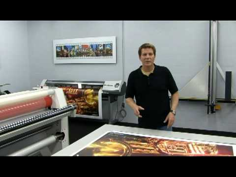 Mounting Large Format Prints made easy (видео)
