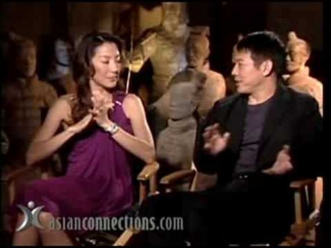 Jet Li & Michelle Yeoh in The Mummy: Tomb of the Dragon Emperor chat with AsianConnections.com's Jim Ferguson