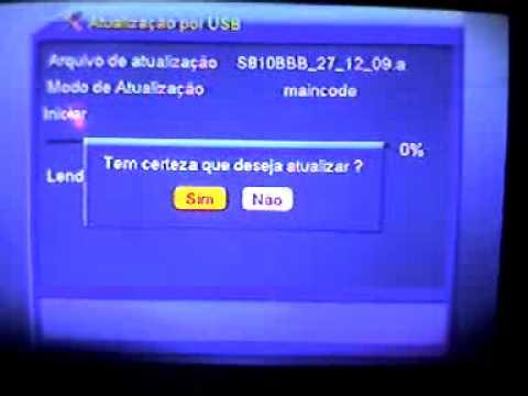 Atualização por USB azamerica s806 s807 s810b