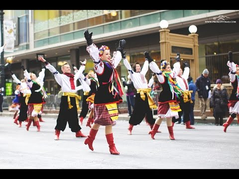 На День Подяки в центрі Чикаго українці танцювали гопак на морозі