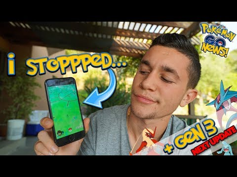 GENERATION 3 OFFICIALLY CONFIRMED NEXT UPDATE! + I STOPPED PLAYING POKÉMON GO...