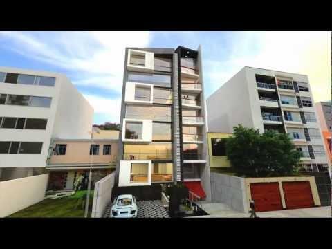 Fachadas edificios 5 pisos videos videos relacionados for Casa moderna minimalista 6 00 m x 12 50 m 220 m2