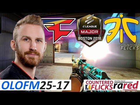 olofmeister 25-17 / FaZe vs fnatic / ELEAGUE Boston Major 2018 / Swiss R1