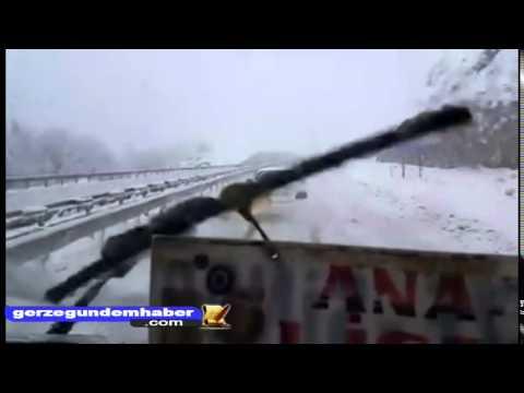 Gerze karayolu Kar Görüntüleri