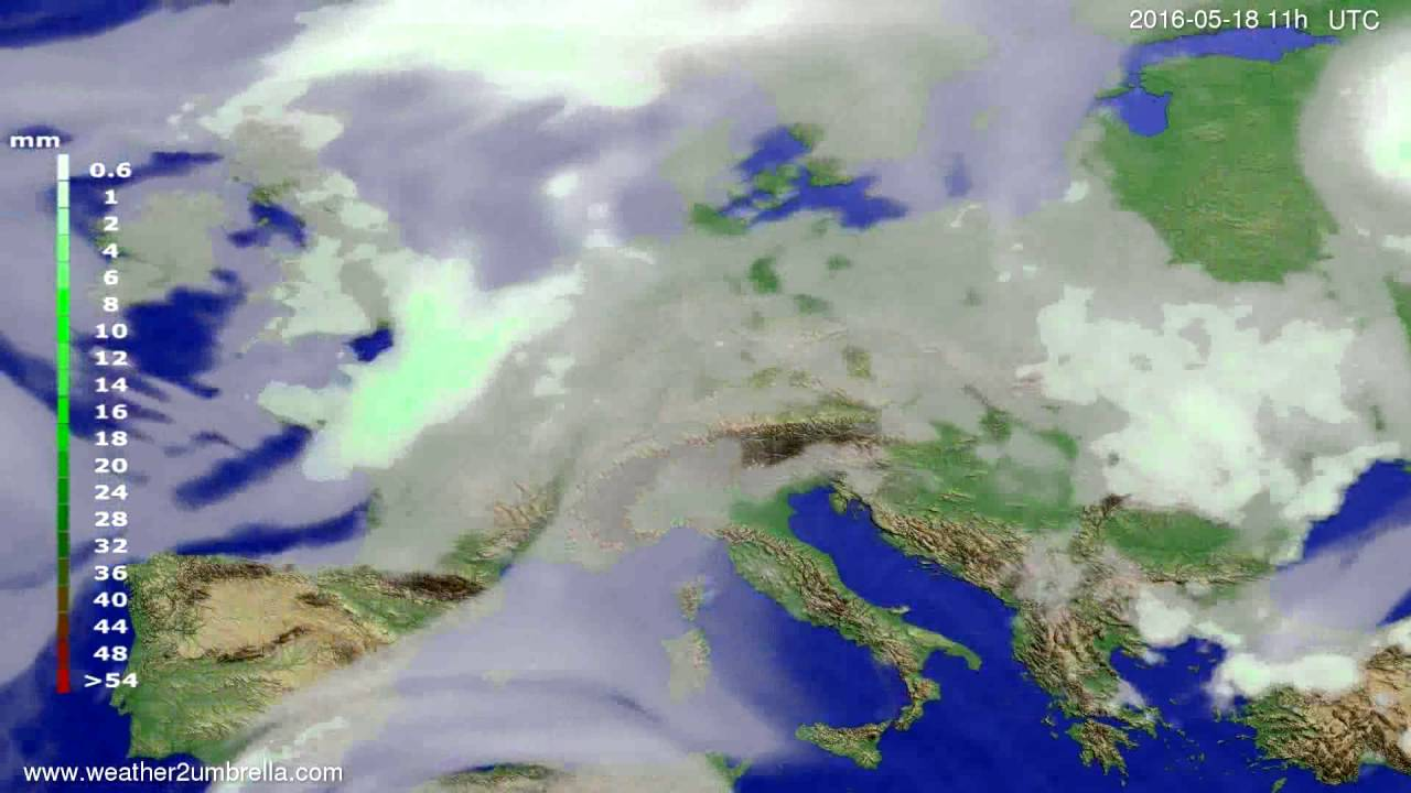 Precipitation forecast Europe 2016-05-15