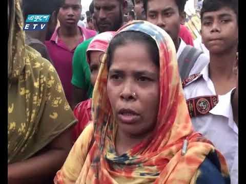 শ্রমিক মৃত্যুর গুজবে গাজীপুরের ডেকেরচালায় সড়ক অবরোধ