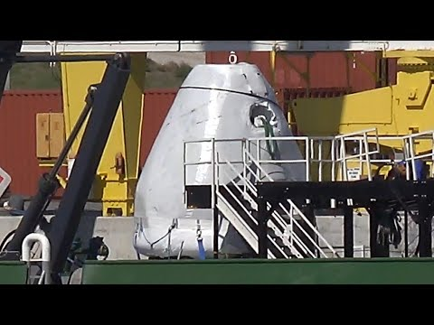 SpaceX - Go Pursuit - Fairing Hunter  02-19-2018_Best spacecraft videos of the week