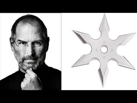 Steve Jobs convertido en ninja por una cadena de noticias de Taiwán