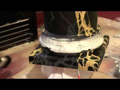 Jeff Pollastro Portoro Limestone Pedestal
