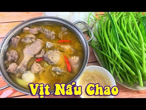 Comida vietnamita: Chao cozido com pato
