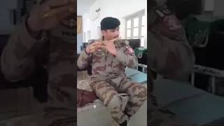 Talented Pakistani Soldier blowing the pipe