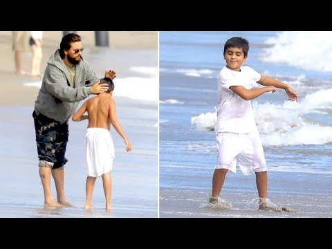 EXCLUSIVE - Scott Disick Spends Father's Day At The Beach With His Kiddies