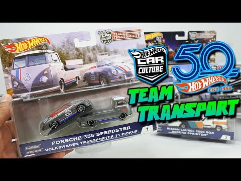 Hot Wheels Team Transport Series 1- Volkswagen T1, Porsche, Nissan Gready & Datsun Wagon