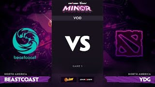 [RU] beastcoast vs Young Drug Gaming, StarLadder ImbaTV Dota 2 Minor S2 NA Qualifiers