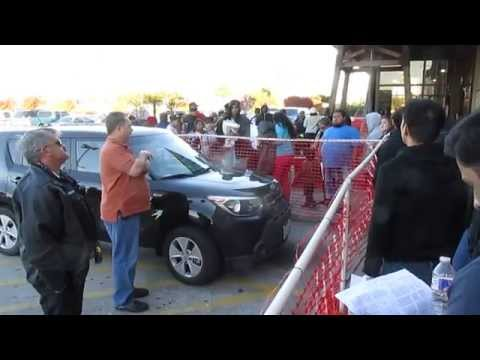 Frys Electronics Thanksgiving Day Sale West road Houston TX Opening instructions 2014