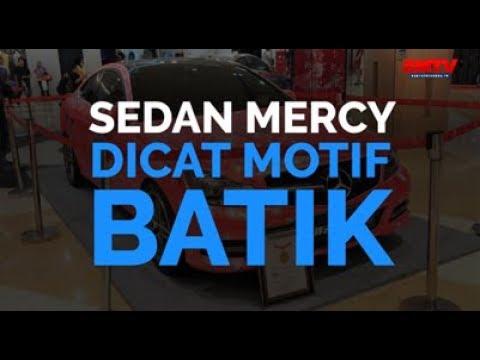 Mobil Mercy Dicat Motif Batik