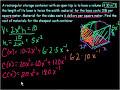 Optimization  Example 4 Video Tutorial