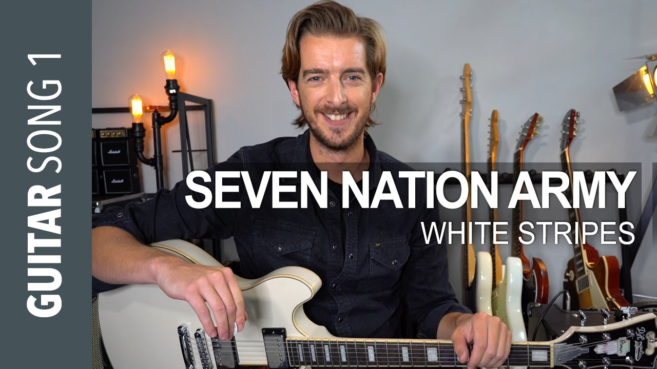 Electric Guitar Song 1 – Seven Nation Army // Guitar Lesson Tutorial
