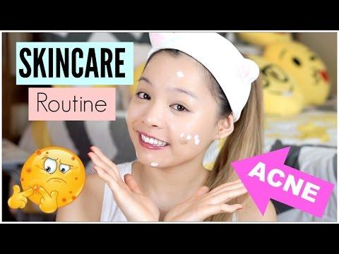 Skincare Routine Cho Da Mụn ♡ Skincare Routine For Acne Prone Skin ♡ TrinhPham
