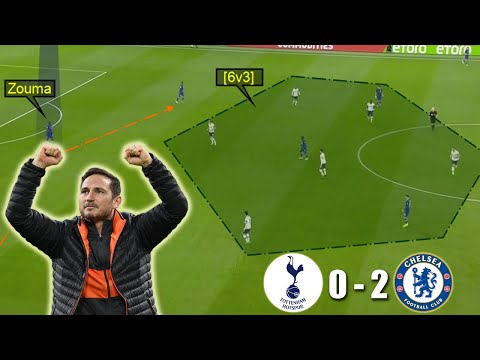 Lampard Shows his Tactical Flexibility | Tottenham vs Chelsea 0-2 | Tactical Analysis