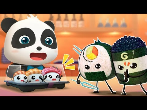 Ninja Sushi's Rescue Mission | Ice Creams, Hamburger Vending Machine, Donuts | Baby Songs | BabyBus