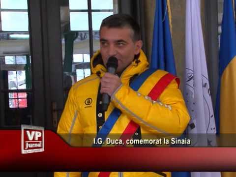 I.G. Duca, comemorat la Sinaia
