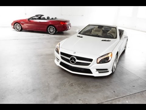 2013 Mercedes-Benz SL 550 vs. 2012 BMW 650i Track Test Video — Inside Line