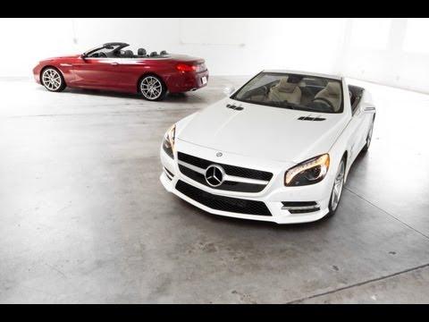 2013 Mercedes-Benz SL 550 vs. 2012 BMW 650i Track Test Video — Inside Line