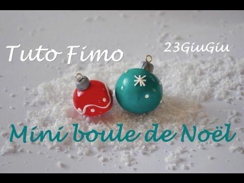 fimo - come realizzare delle mini palline natalizie