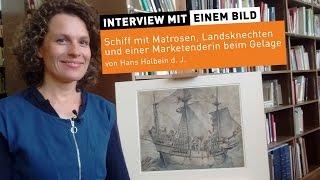 """""""Schiff mit Matrosen beim Gelage"""" von Hans Holbein d. J."""