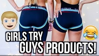 Girls Try Out Guys Products!   MyLifeAsEva