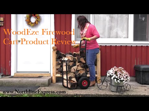 Product Review of the WoodEze Firewood Cart with Heavy Duty Wheels