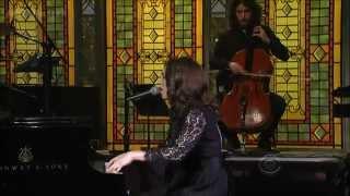 Regina Spektor - All The Rowboats (Live on David Letterman) with Lyrics