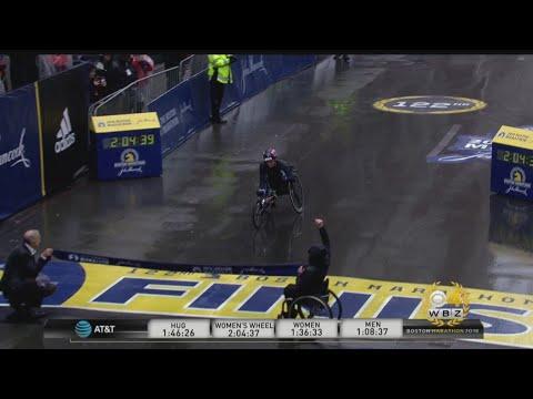 Tatyana McFadden Wins Boston Marathon Women's Wheelchair Race