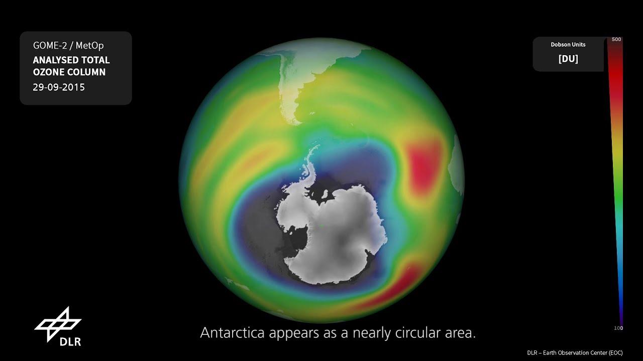 Озоновая дыра над Антарктидой уже больше Северной Америки