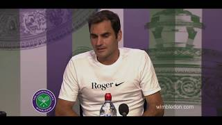 Roger Federer's press conference after he won over Marin Cilic in the Wimbledon final in 2017.